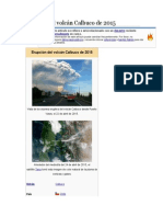 Erupción Del Volcán Calbuco de 2015