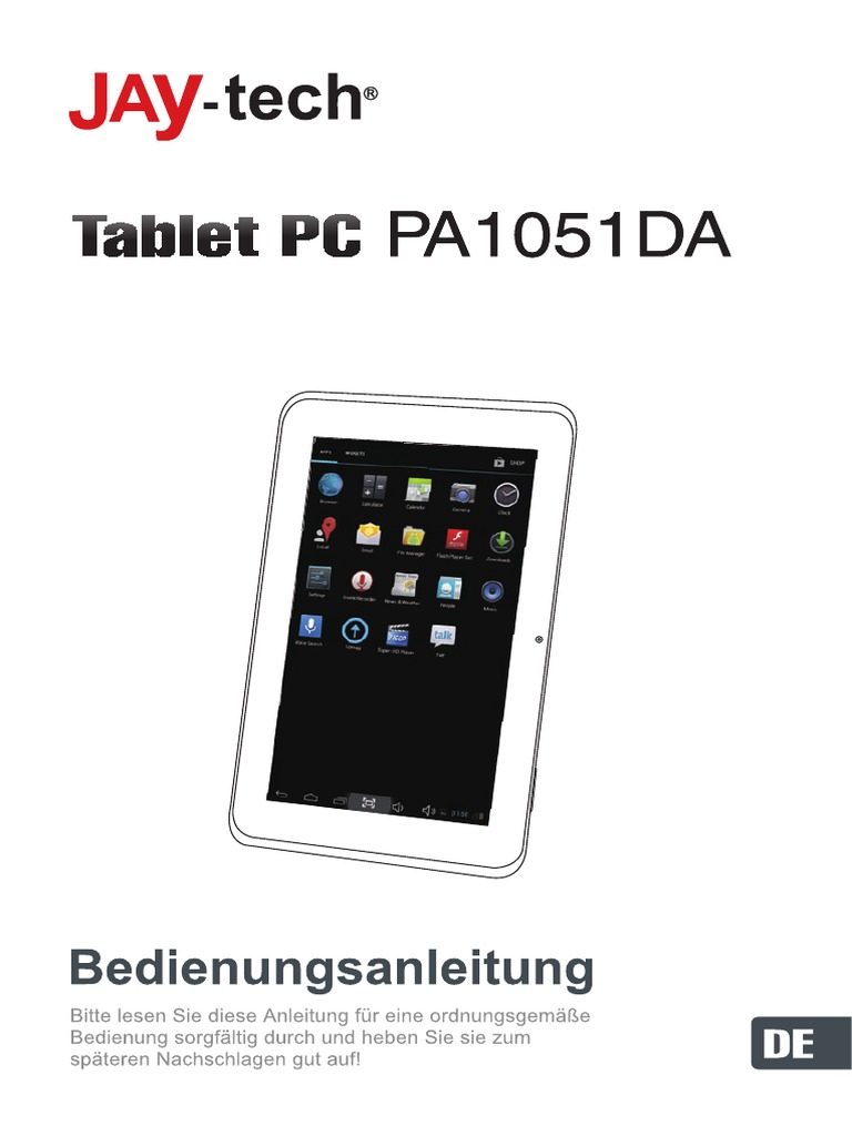 JAY tech Tablet PC PA1051DA Manual De