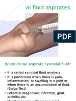 Synovial Fluid Aspirates