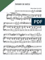 Elgar Chanson de Nuit Et Chanson de Matin Op.15 Trans. Elgar - Violin and Piano Piano Score