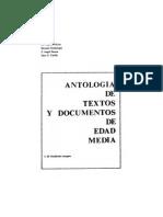 Antología de textos y documentos de la Edad Media