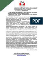 25.04.15 - Defensoría advierte problemática que impide acceso de gestantes a servicios de EsSalud y el SIS en diversas regiones del país.