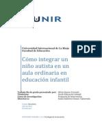 como integrar a un niño con autismo en el aula infantil