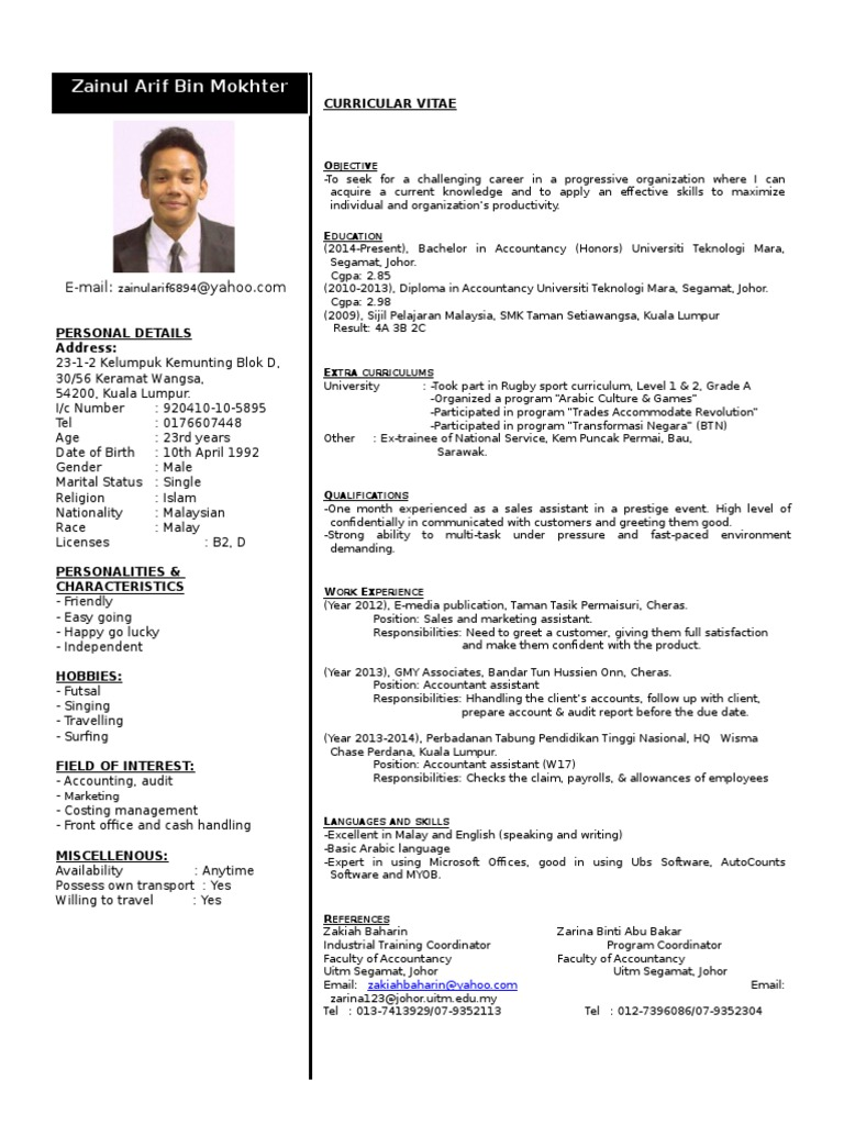 resume malaysia business