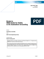 IEEE Std 80-2000_errata Errata to IEEE Guide for Safety in AC Substation Grounding