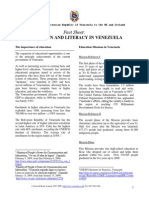 education and literacy in venezuela fact sheet