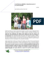 Conjunction of Different Realities and Relevance to the Conservation Movement (Spanish)