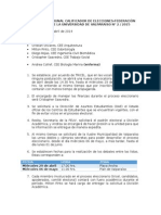 Acta Reunión Tribunal Calificador de Elecciones 2