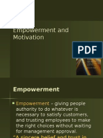 Empowerment and Motivation