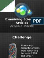 examining scientific articles