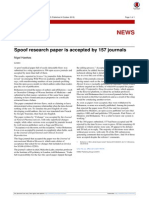 Spoof Research Paper is Accepted by 157 Journals