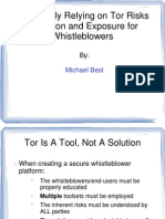 Exclusively Relying on Tor Risks Detection and Exposure for Whistleblowers