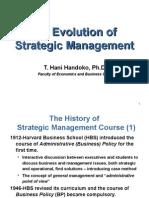 The Evolution of Strategissc Management