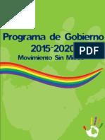 Programa de Gobierno 2015 - 2020