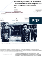 De Ce I-A Trădat România Pe Nemţi În Al Doilea Război Mondial. Controversele Armistiţiului Cu Sovieticii
