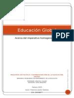 Educación Global  Acerca del imperativo homogeneizante