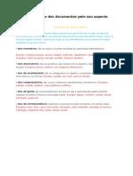 Classificação Dos Documentos Pelo Seu Aspecto Formal
