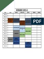 HORARIO 2015-1