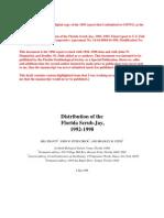 Florida Scrub-Jay distribution (Pranty et al. 1998)