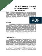 O Papel Do Ministério Público Na Implementação Do Estatuto Da Cidade