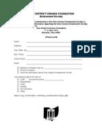Endowment Society Form