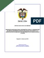 Propuesta Metodológica Sistemática Para La Generación de Mapas Geomorfológicos Analíticos Aplicados a La Zonificación de Amenaza Por Movimientos en Masa Escala 1 en 100.000