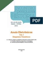 Anais Eletrônicos EPHIS - Vol. 1
