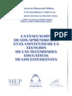 Evaluación de Los Aprendizajes MEP 2004