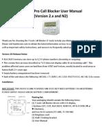 TLock Pro Call Blocker N2 User Manual
