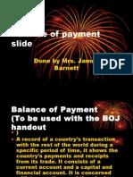 Balance of Payment Slide CAPE ECON