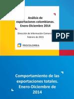 Analisis de Exportaciones Colombianas Ene-dic 2013-2014