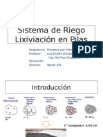 Sistema de Riego Lixiviacion en Pilas