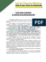 Guia Para Elaboracion Del Proyecto de Investigacion Programa de Maestrias y Especialides Eep 20131