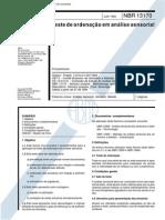 NBR 13170 - Teste de Ordenacao Em Analise Sensorial