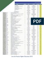 Lista de Precios 2015 Profesores