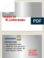 Sesion 10 - Liderazgo