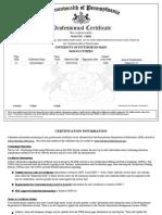 PA Chinese Teaching Certificate (Wan-Tzu Chen)