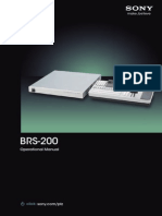 Sony BRS-200 Operation Manual