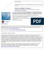 Effect of Nitrate on the Degradation of Bisphenol A