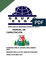 Grupo Esga en Seguridad Privada Manual de Capacitación