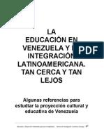 Educación e Integración en America Latina