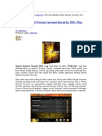 Petunjuk Install Norton 2011