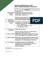Jadwal Kuliah Seminar