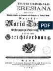 Constitutio Criminalis Theresiana 1768