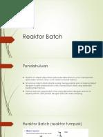 Desain Reaktor Batch