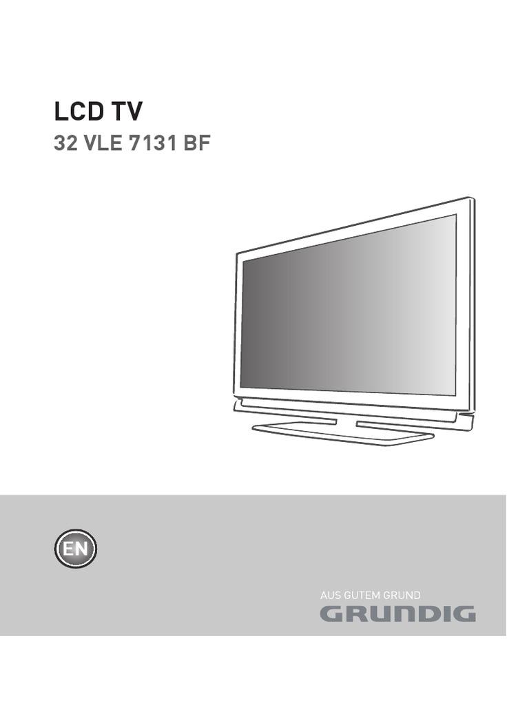 grundig lcd tv 32 vle 7131 bf users manual 430044 television rh scribd com Grundig Radios Grundig Console Stereo with Turntable