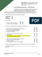 Parent Survey September 2012-El Sereno