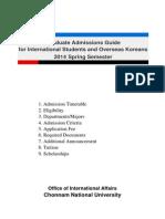 Korea Beasiswa 2014-1-Application Guideline En