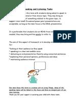 speaking and listening tasks t2-3