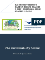 Spain students´ Lecture The Sustainability 'Game'